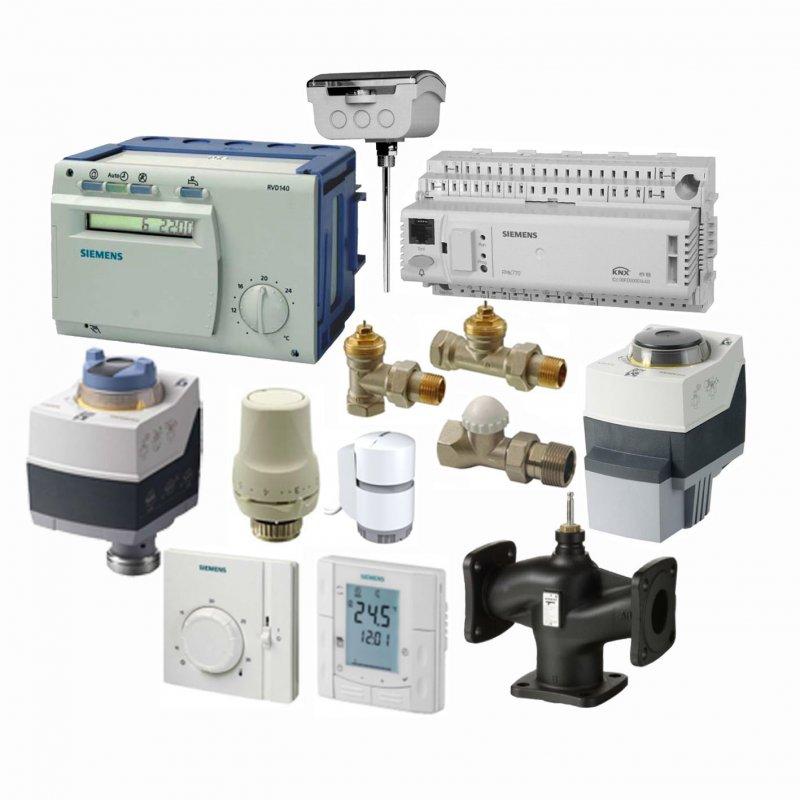 Клапаны, привода, терморегуляторы, термостаты, датчики температуры Siemens