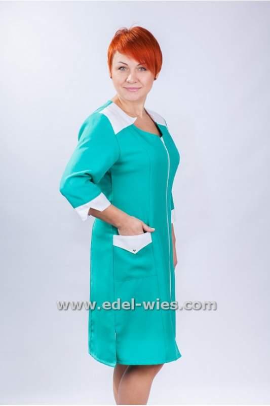 Купить Женский медицинский халат без воротника рукав ¾