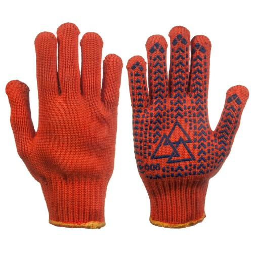 """4158 Gloves knitted with PVC a point """"3D MASTER - 81TS"""