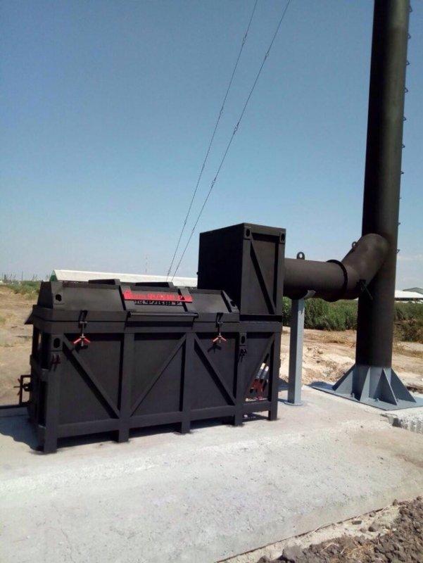 Крематор для трупов крупных животных УТ750Д