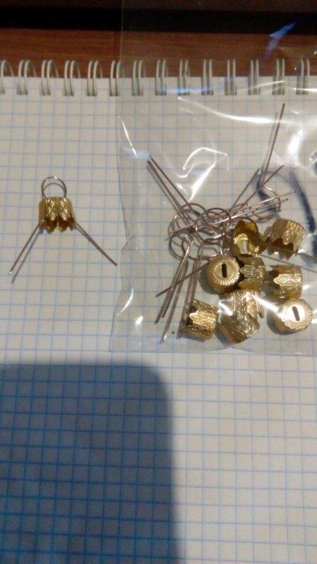 Колпачки для новогодних шаров диам. 80и100 мм ( 10 шт )