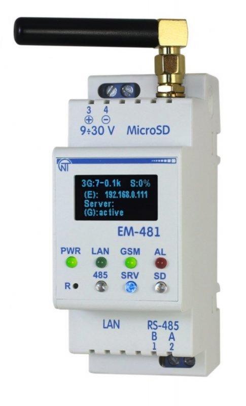 Контроллер web-доступа к управлению  Modbus - оборудованием EM-481
