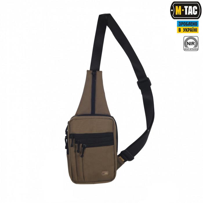 Сумка через плече для скрытого ношения оружия M-Tac койот