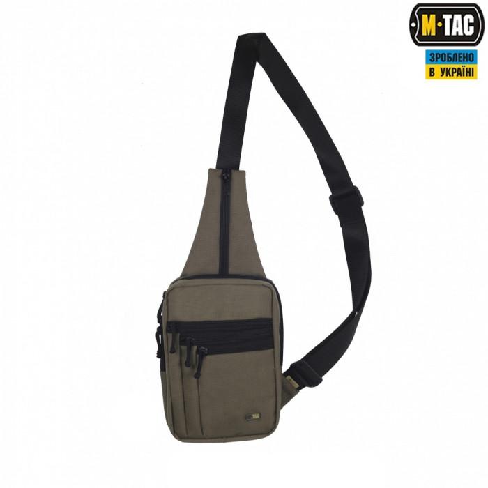Сумка через плече для скрытого ношения оружия M-Tac олива