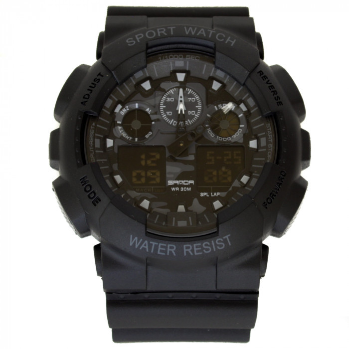 Часы армейские Sanda Water Resistant 50 m Black