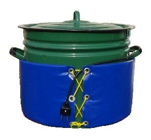 Декристаллизатор, роспуск мёда в кастрюле 40 л. Разогрев до + 40°С.