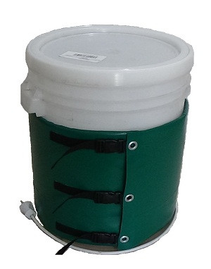 Декристаллизатор, роспуск мёда в ведре 30 л. Разогрев до + 40°С.