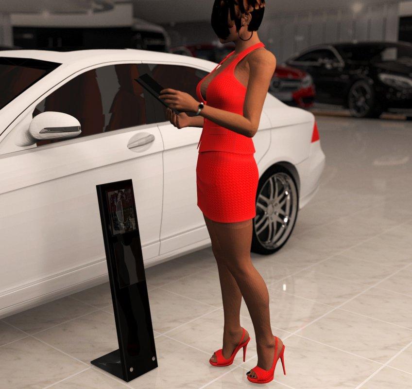 Рекламный стенд для Mercedes-Bens