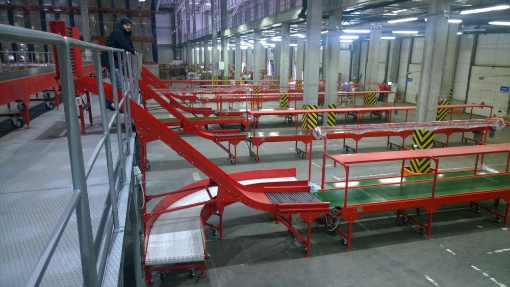 Установка для сортировки посылок на базе ленточного конвейера глобальный океанический конвейер