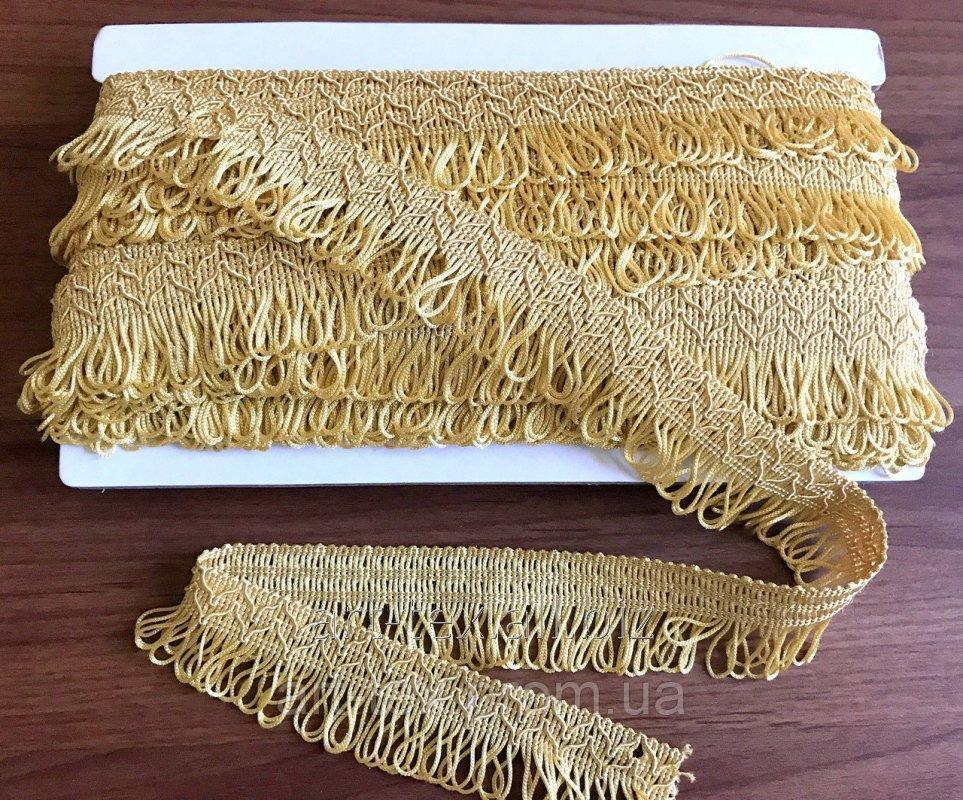 Бахрома 5 см желтая
