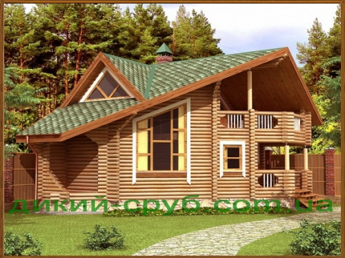 Проект дома-бани из дерева