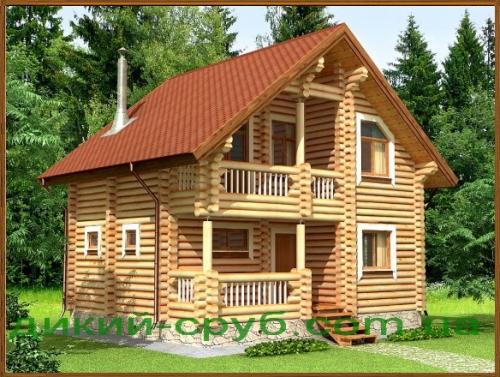 Коттедж деревянный с баней