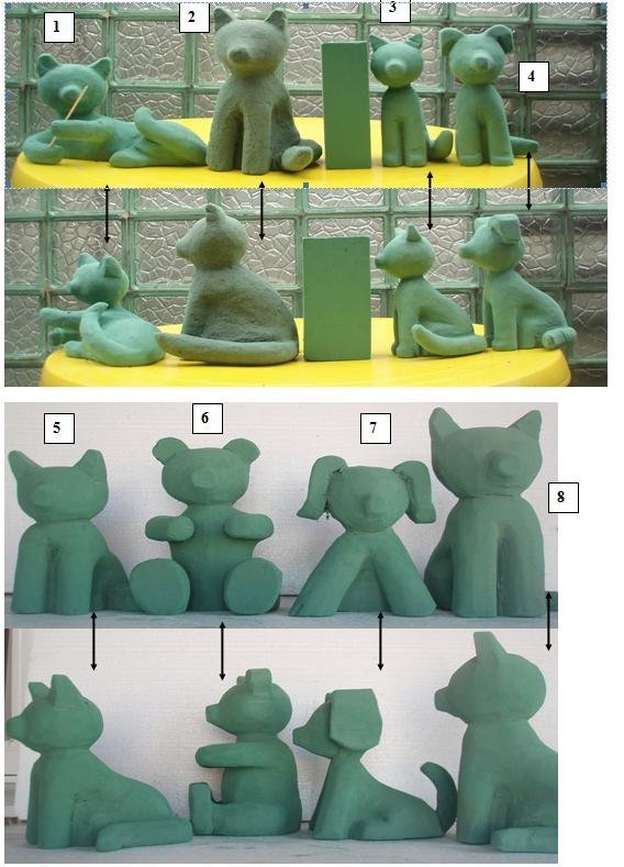 Макеты игрушек из цветов