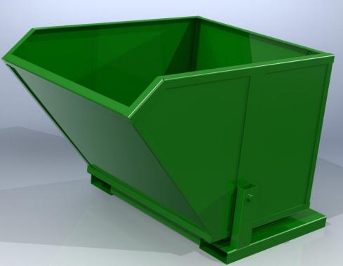Купити Контейнер металевий, вантажопідйомністю до 1,5 тн