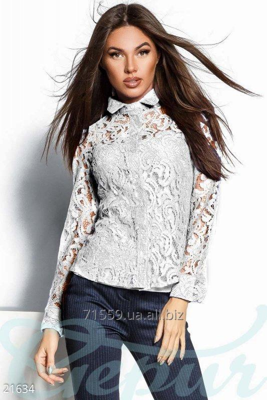 Transparent guipure blouse
