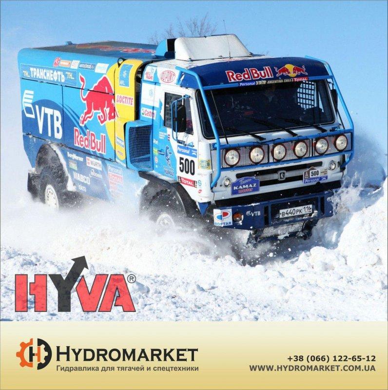 Купить Гидравлический набор Hyva на КАМАЗ с пластиковым баком