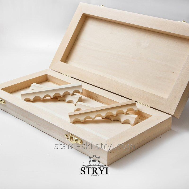 Нарды / шахматы заготовка для резьбы по дереву с фурнитурой, размер 600*300*90 мм, арт.BB-05