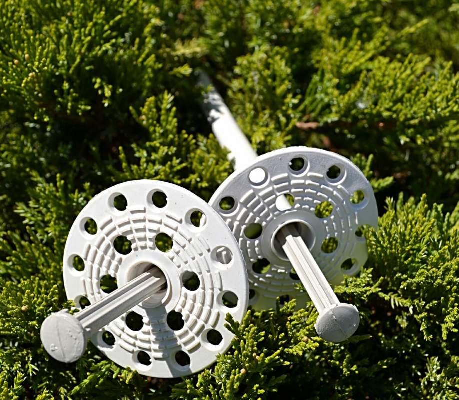 Дюбель тарельчатый Код:KI 10х200 TERMO\WHITE с пластиковым гвоздем (производители)