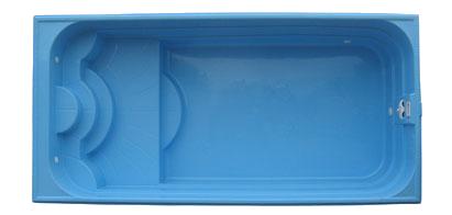 Стекловолоконный композитный бассейн модель Классика-2 7,40 х 3,50 х 1,10-1,70 м с перепадом глубины