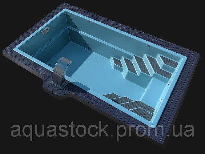 """Стекловолоконный (композитный) бассейн """"LAGOS Sol-8"""" 8,0 х 3,40х 1,55м"""