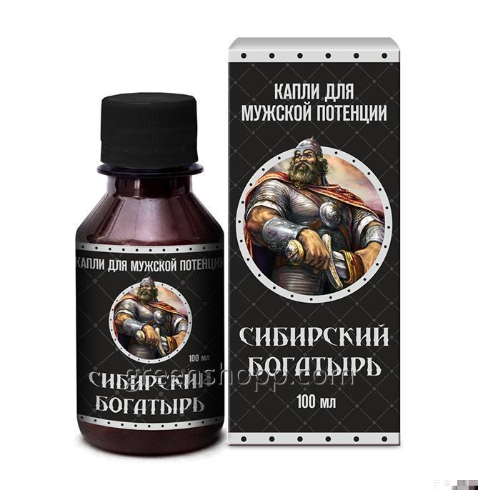 Капли для мужской потенции Сибирский богатырь