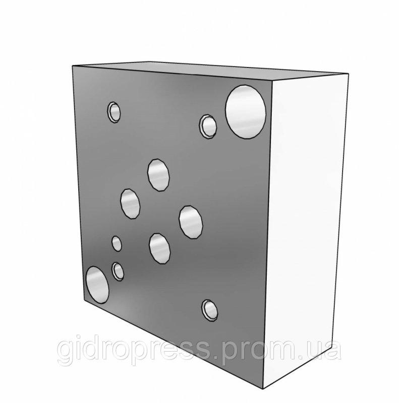 Плита гидравлическая одноместная отверстия снизу - SPВ DN06 3/8.