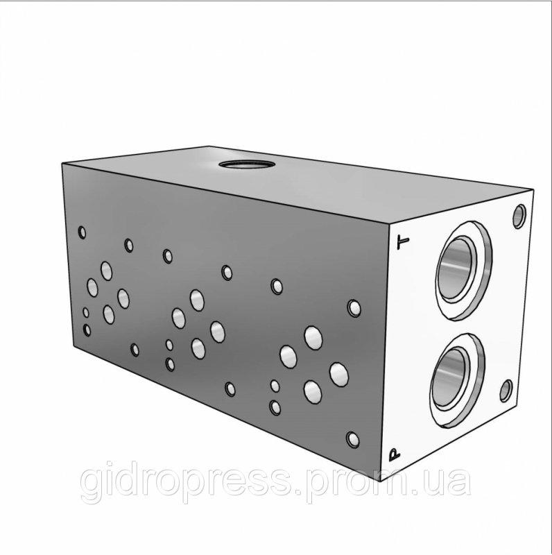 Плита гидравлическая монтажная 3 секции DN06