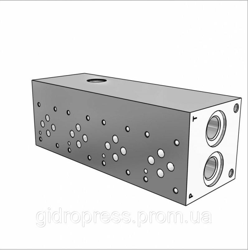 Плита гидравлическая монтажная 4 секции DN06