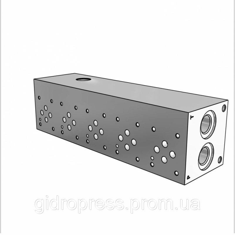 Плита гидравлическая монтажная 5 секции DN06