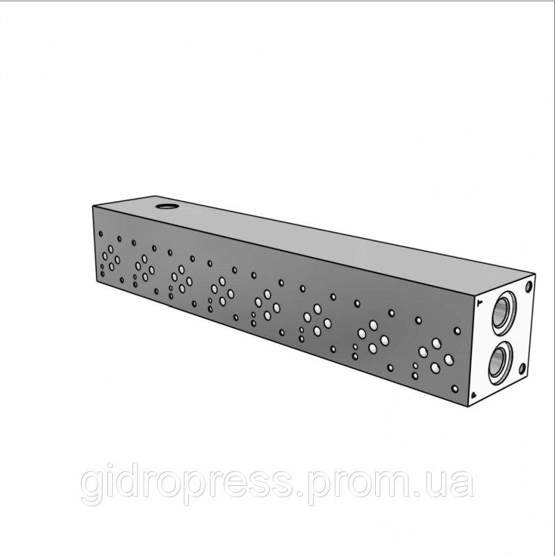 Плита гидравлическая монтажная 8 секций DN06