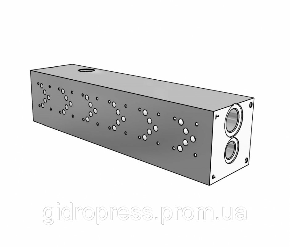 Плита гидравлическая монтажная 6 секции DN10