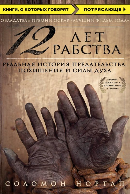 Книга 12 лет рабства. Реальная история предательства, похищения и силы духа