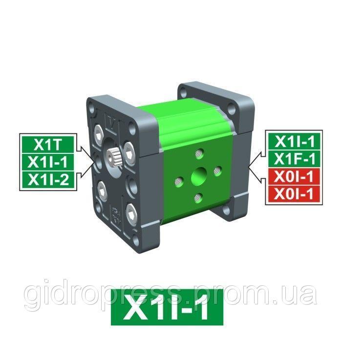 Купить Шестеренчатый гидронасос Vivoil XI101 - фланец ø25.4 (Промежуточная секция)