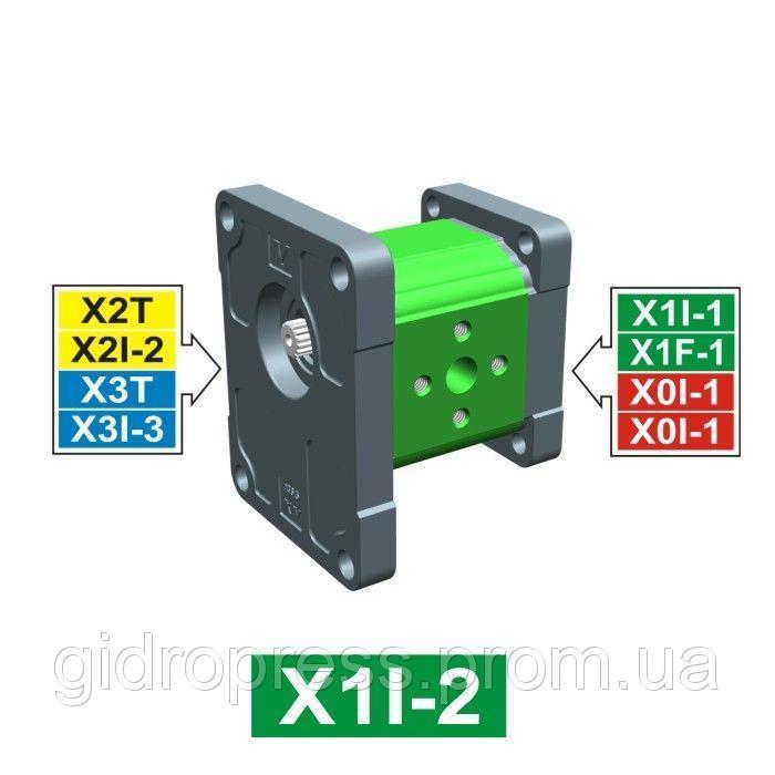 Купить Шестеренчатый гидронасос Vivoil XI103 - фланец ø36.5 к 2 и 3 группе (Промежуточная секция)