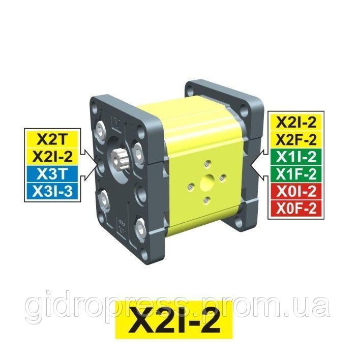 Купить Гидравлический шестеренный насос Vivoil XI201 - фланец ø36.5 (Промежуточная секция)