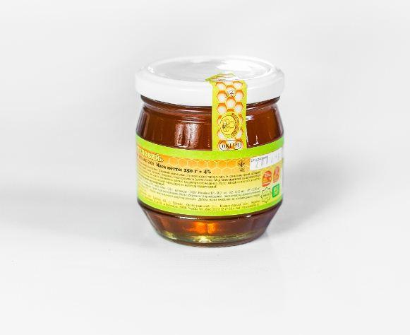Мёд степной в стеклянной банке 250 г