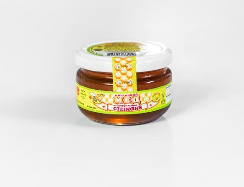 Мёд степной в стеклянной банке 170 г