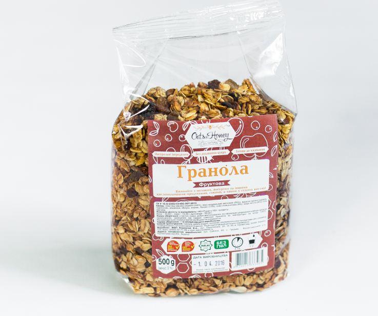الجرانولا العسل الفاكهة 750 غرام
