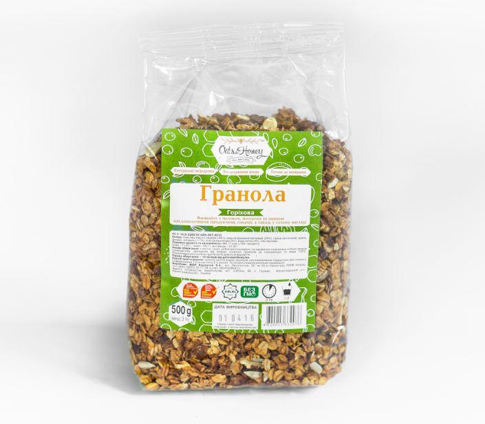 Granola med muttere 750 g