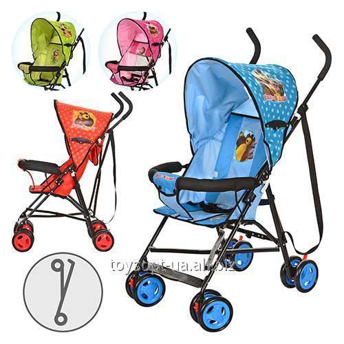 Коляска детская MM 0067-1, 4шт, ММ,прогул,глуб.крыша,колеса8шт, 13,5см, 4цв, роз,салат,красн,голуб