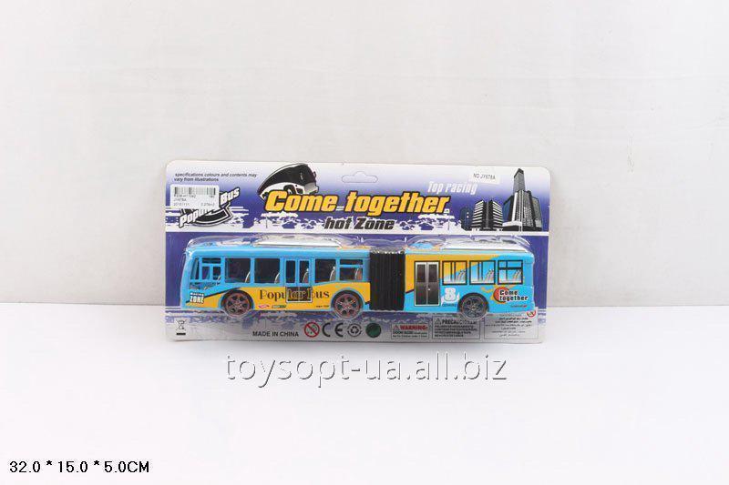 Автобус инерц. JY678A, 180шт/2, на планшетке 32 * 15 * 5см