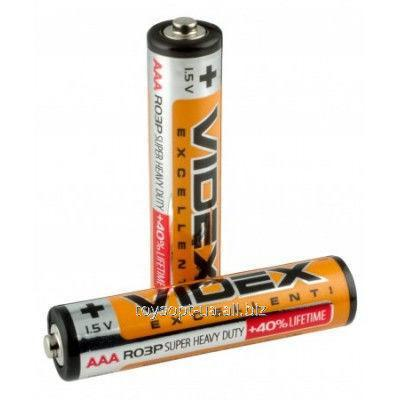 Батарейка солевая ААА R03P Videx шринк 4 шт