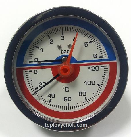 Купить Термоманометр горизонтальный (боковой) Aqua World XF346