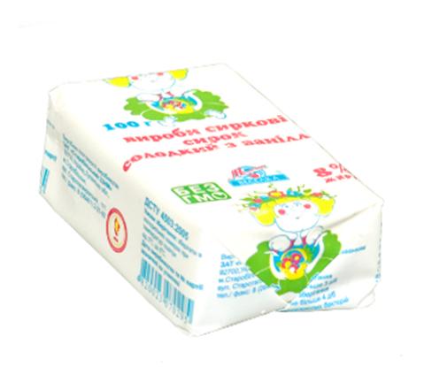 Купить Сырки сладкие с ванилью 100г, сырки творожные 8% ванильные оптом