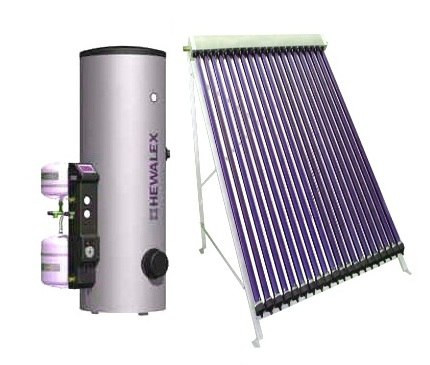 Солнечный коллектор трубчатый вакуумный водонагреватель Hewalex Горячее водоснабжение 3-5 чел.