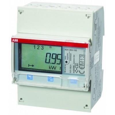 Многотарифный ABB 3ф. Счетчик электроэнергии с ЖК-дисплеем, 3ф. kWh# B24 351-100 2CMA100182R1000