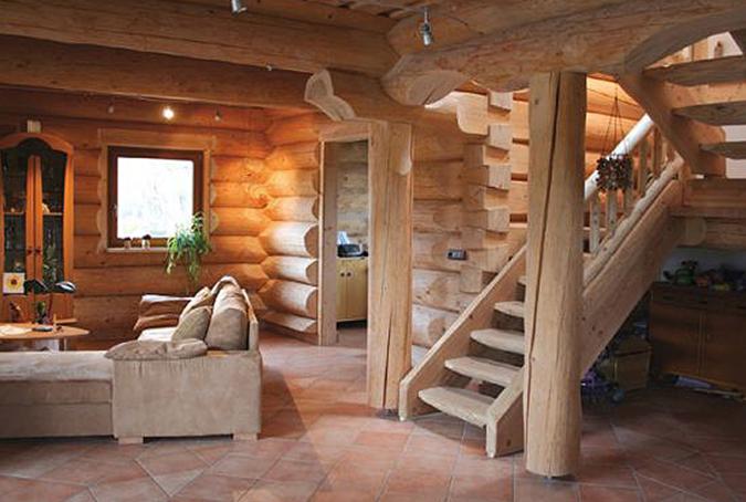 Деревянные дома из дикого бруса сруб