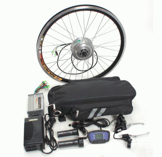 Купить Экономный электронабор 24V 250W на переднее колесо к велосипеду по самой низкой цене в Украине