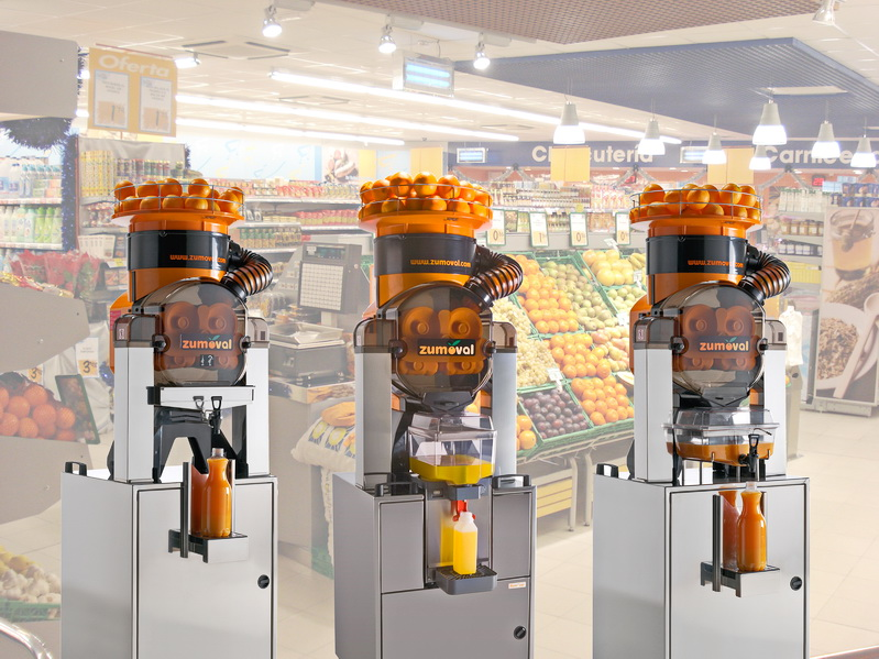 Zumoval Squeezer Machines Fast Top Juicer For Supermarkets 45 pcs/min