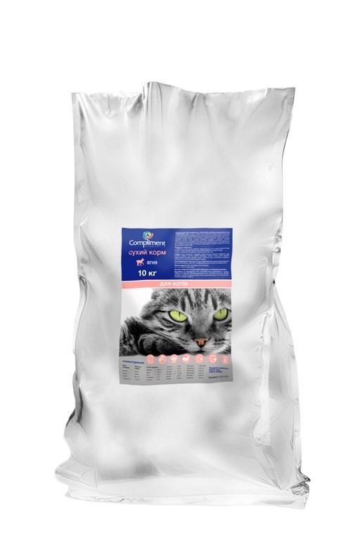 Сухой корм ТМ Compliment Premium С ягненком и рисом